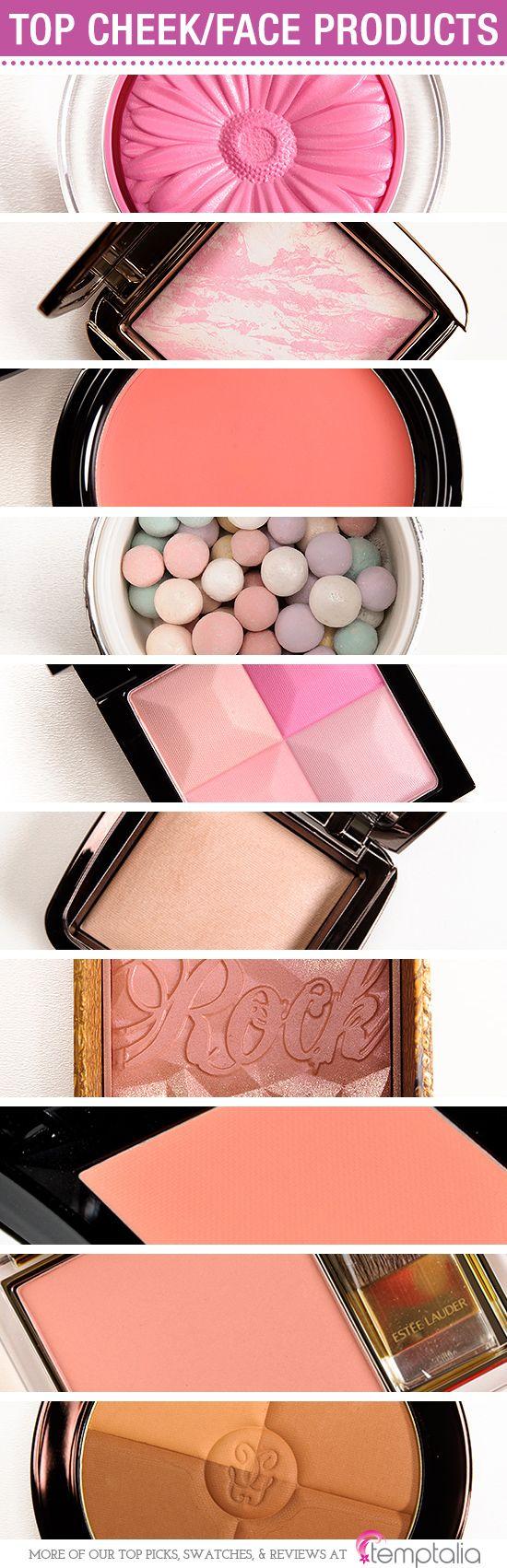 Colorete y maquillaje en polvitos