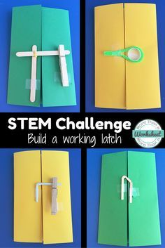 Build a working latch! Students will enjoy this fun STEM Challenge to help the Three Bears keep Goldilocks out for good. Fairy Tale STEM for upper elementary from More Than a Worksheet $ This is also part of a money saving bundle: www.teacherspayte...