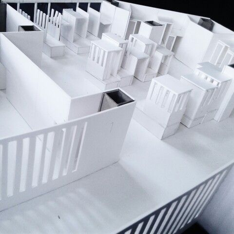 Architecture model: a place for me time, the poetic of being alone. My 2nd project on interior architecture design studio 3