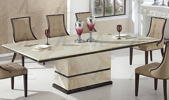 American Eagle Furniture Dt H28 Tan Marble Top Dining Table