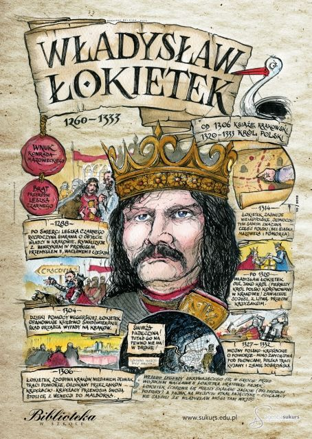 Władysław Łokietek - Poczet królów polskich - PlanszeDydaktyczne.pl