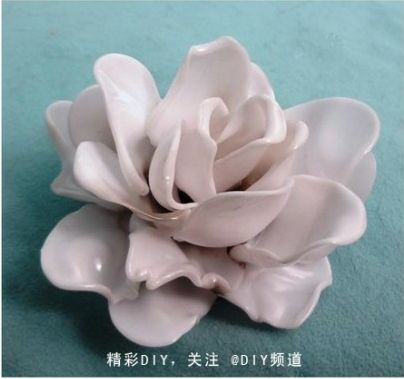 Plastic Spoon Flower Pendant