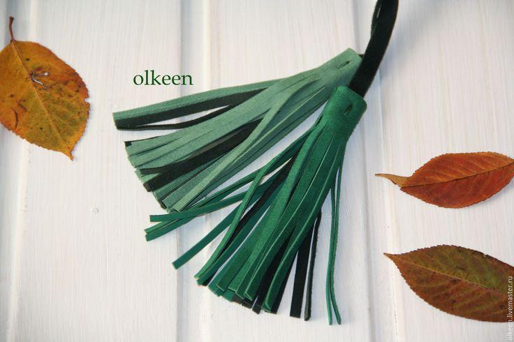 Купить Сумка кожаная Olivia изумрудная - тёмно-зелёный, в полоску, изумрудный, изумруд, изумрудный цвет
