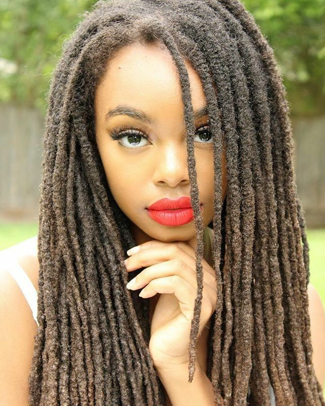 Makes me miss my locs. Gorgeous.