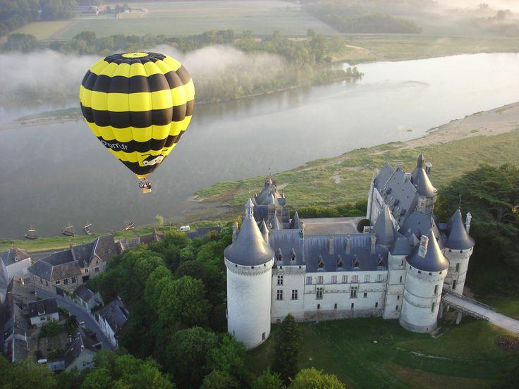Château de Chaumont-sur-Loire en mongolfière