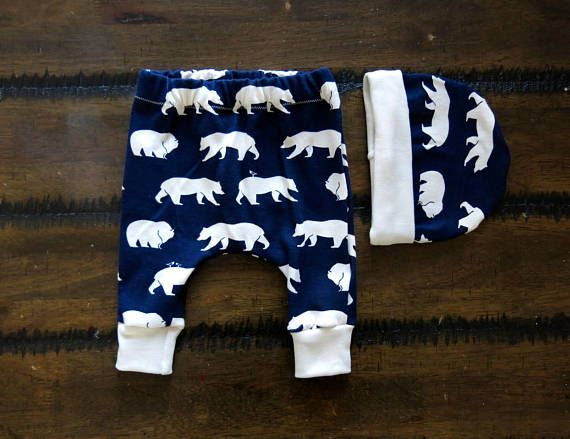 Organic baby clothes / boy clothes  / Organic baby Beanie / baby leggings  /baby gift set/ Jersey knit baby clothes / Hipster baby clothes
