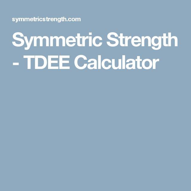 Symmetric Strength - TDEE Calculator