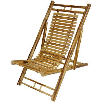 Oriental Furniture Japanese Bamboo Folding Zero Gravity Chair