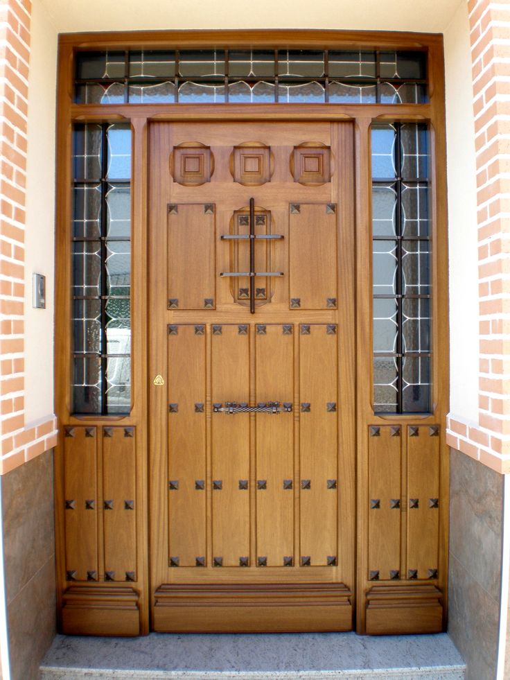 Dise o de puerta rustica ideal para casa rural - Manillas rusticas para puertas ...