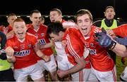 Cork players celebrate at the end of the game #GAA #Championship Pic from Sportsfile: Cadbury Munster GAA Football U21 Championship Final, Cork v Tipperary, Páirc Uí...