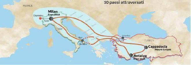 Il Messagero - Expo, parata di biciclette solari a Milano: viaggeranno fino ad Antalya in Turchia