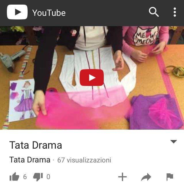 Ecco il primo tutorial Tata Drama! Armatevi di pazienza e seguite me e la mia bimba nella realizzazione di un costume da principessa dalla testa ai piedi.  https://www.youtube.com/watch?v=-IrzFQFUufM&t=124s ...non vedo l'ora di fare il prossimo!