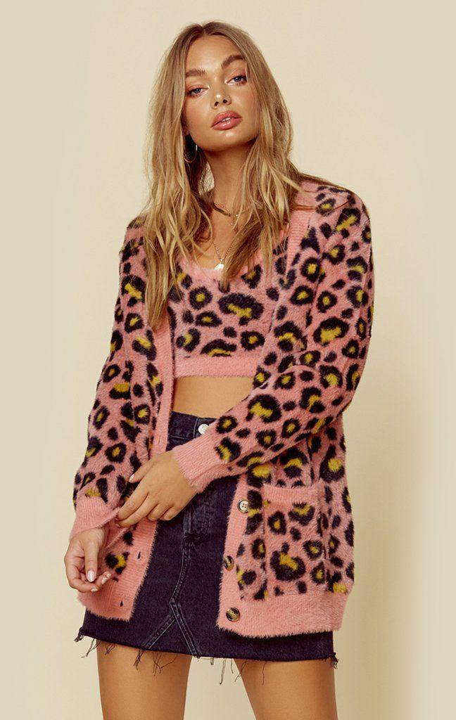 For Love /& Lemons Marielle Leopard Cardigan