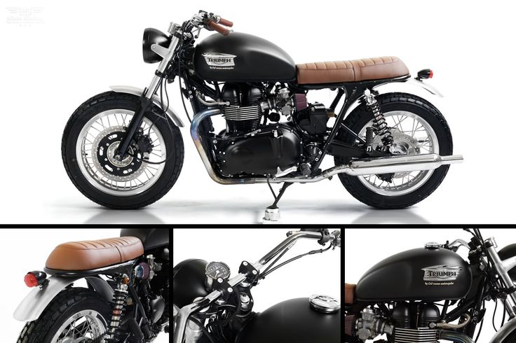 Triumph Bonneville Custom by @Cafe Racer Dreams Cream Motorcycles | If you're in Europe and desperate to live your Cafe Racer Dream, look no further than the Madrid, Spain based bespoke fabricator CRD Cream #Motorcycles. Their latest creation a #Triumph Bonneville Custom is absolute eye candy for Triumph lovers. | Moto Rivista