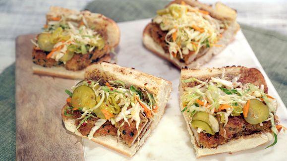 Mario Batali's Hungarian Pork Cutlet Sandwich