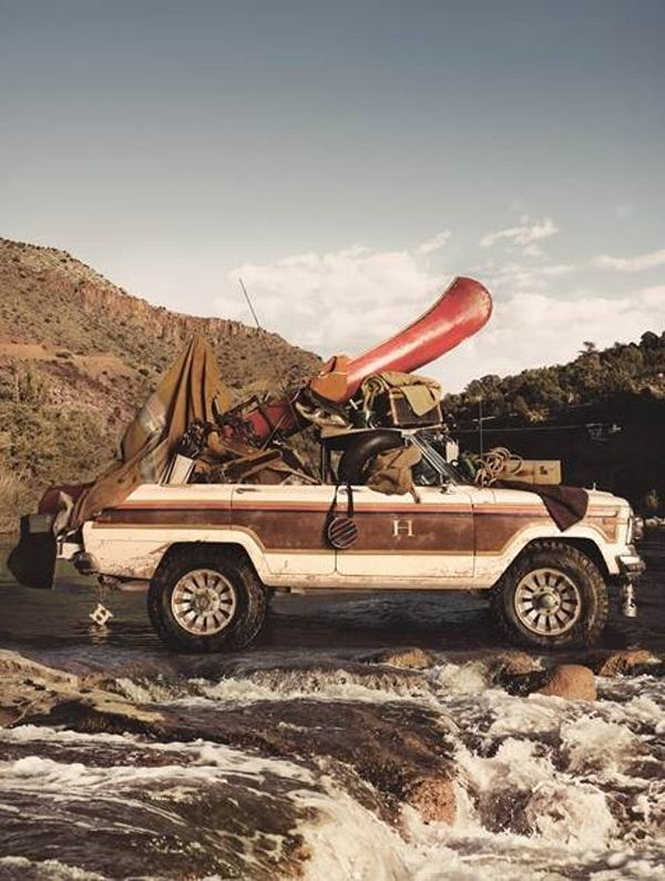 Adventurous- I love this shot!: Car, Adventure, Camping, Vehicle, Outdoor, Jeep Wagoneer, Travel