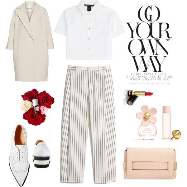 romantic and boyish by helenabranquinho on Polyvore featuring moda, MARC BY MARC JACOBS, KaufmanFranco, Madewell, Barbara Bui, Chloé, Gucci, Marc Jacobs, boyish and styling