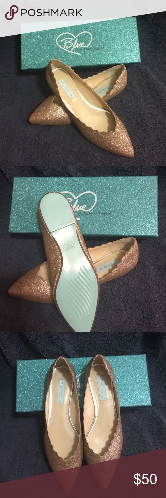 Blue by Betsey Johnson Wedding Flats Gorgeous rose gold wedding flats, size 9, brand new in box, never worn. Betsey Johnson Shoes Flats & Loafers