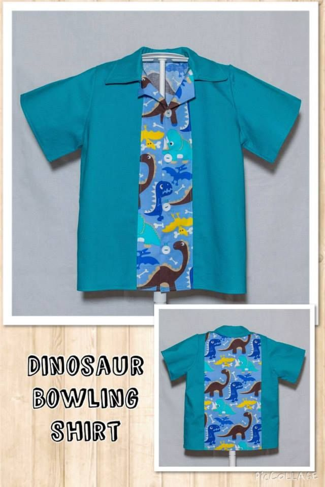 Handmade by ChaCheCreations Dinosaur Bowling Shirt