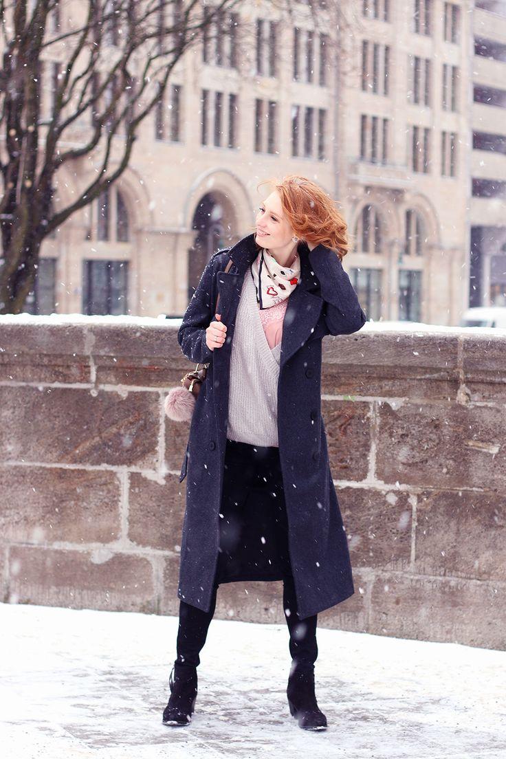 Schick im Winter, langer Wintermantel, Matel stylen, Winter Outfit, Look, Fashion Week Berlin 2017, Modeblog, Influencer, Advance Your Style