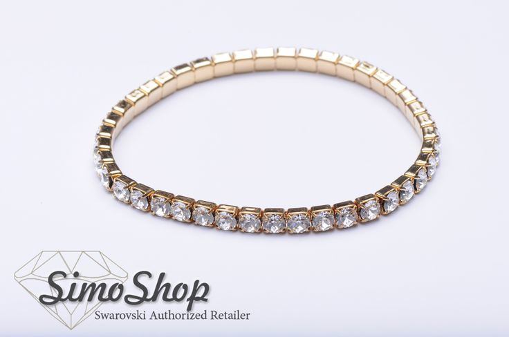 Brățară din argint cu cristale swarovski. #swarovski #argint #bijuterii #simoshop