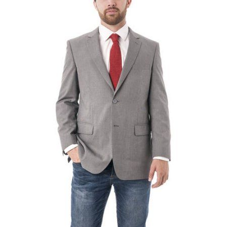 Verno Grey with Black Texture Classic Fit Men's Blazer, Size: 38S, Gray