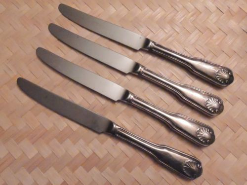 The Main Course Knife MNF2 Shell Lot 4 Japan Hollow Handle Silverplate Flatware