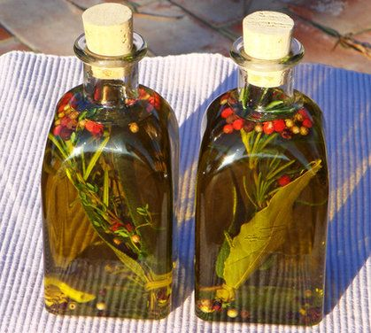 tuscan infused olive oil - made this for the secretaries in my son's school's office. It looked really pretty and was really easy to make. I just don't recommend knocking one of the bottles onto your tile floor. Olive oil is a PITA to clean up!!  Two thumbs up!