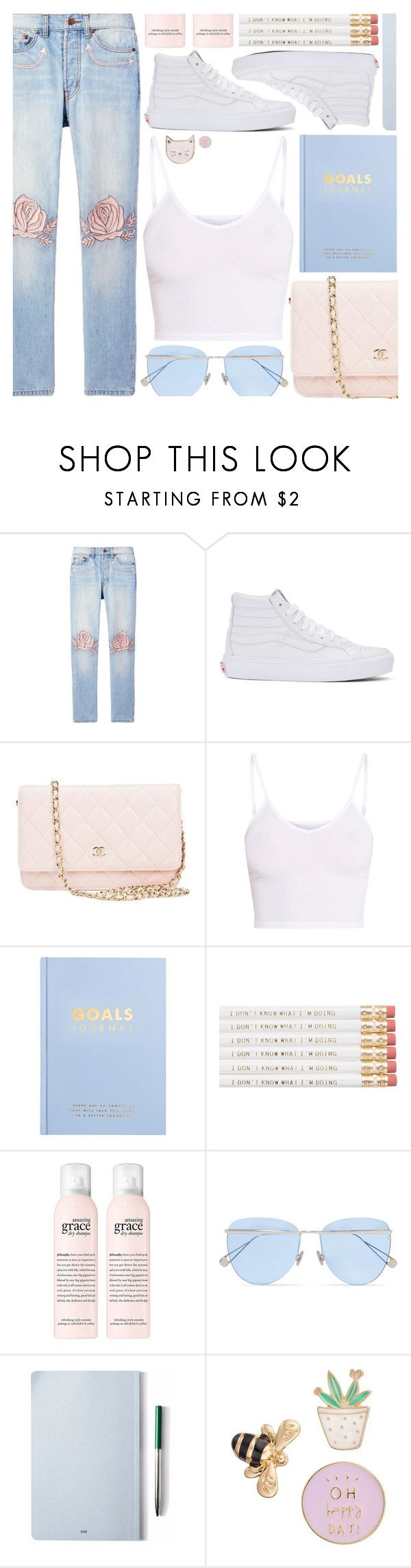 """I knew a guy just like you once..."" by pastelneon ❤ liked on Polyvore featuring Bliss and Mischief, Vans, Chanel, BasicGrey, kikki.K, Sunday Somewhere, The Idle Man and LC Lauren Conrad"