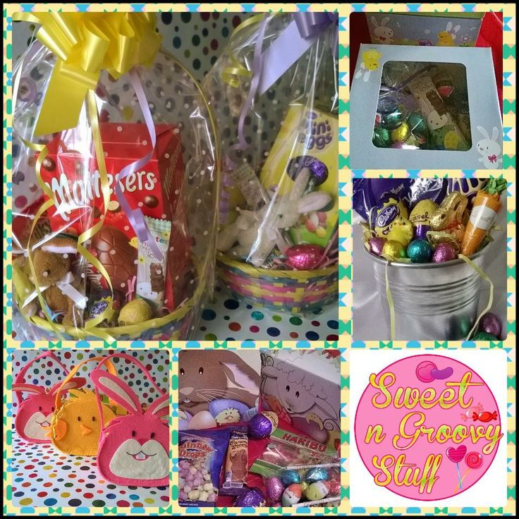 #Easter #gifts for all from as little as £1!!   #Baskets #Bunnies #chocolate #sweets #giftbox #buckets #sweetngroovystuff www.facebook.com/sweetngroovystuff