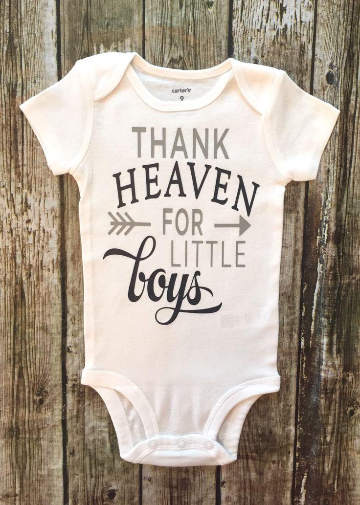 Thank Heaven For Little Boys Onesie Thank Heaven Shirts Religious Baby Onesies Boys Shirts by RagazzoBelloCo on Etsy https://www.etsy.com/listing/469412153/thank-heaven-for-little-boys-onesie