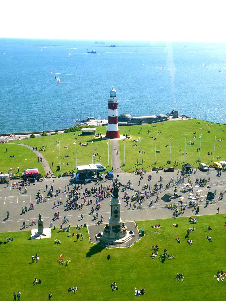 Plymouth Hoe in summer