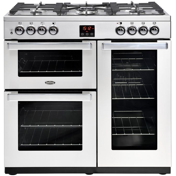 belling cookcentre 90g prof stainless steel 90cm gas range cooker