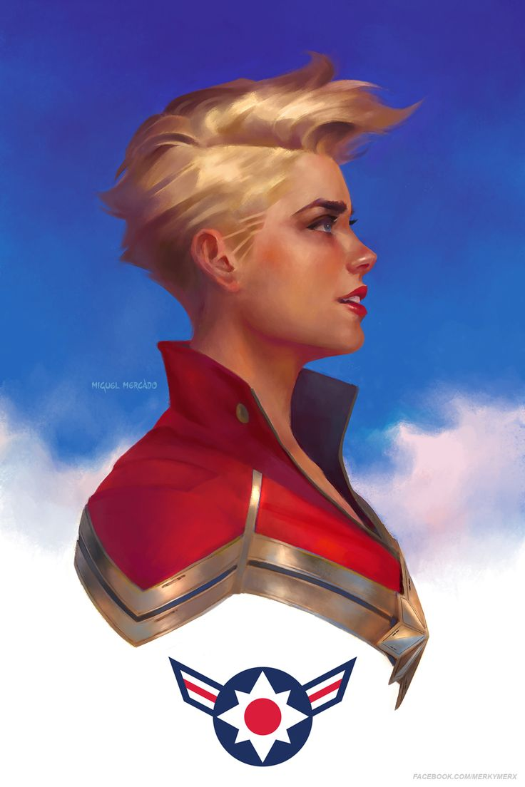 "merkymerx: "" Carol Danvers Inspired by the works of Kris Anka and Jamie McKelvie. """