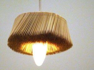 lamp made of sticks