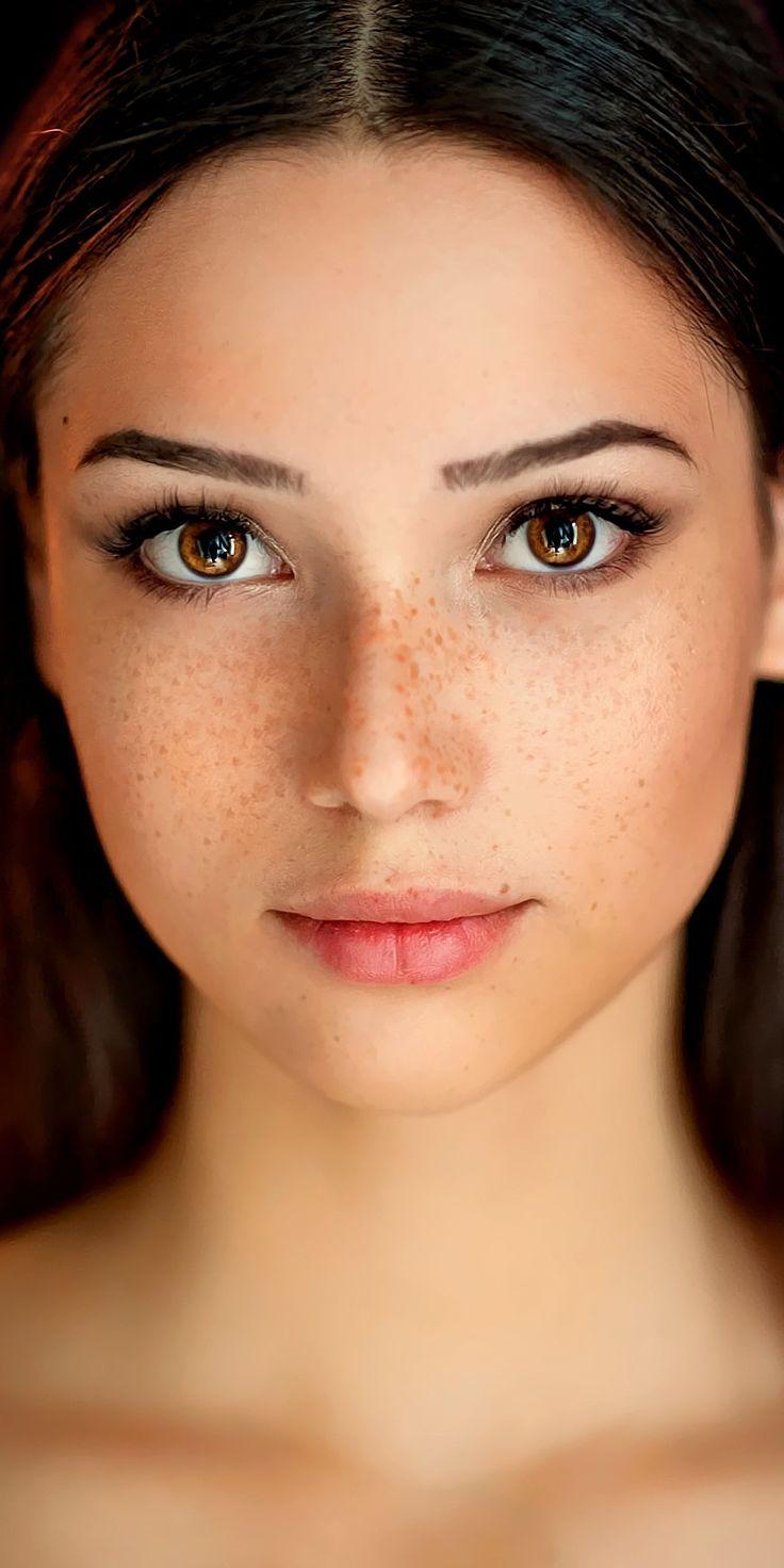 Shining eyes, bokeh, beautiful woman, stare, 1080x2160
