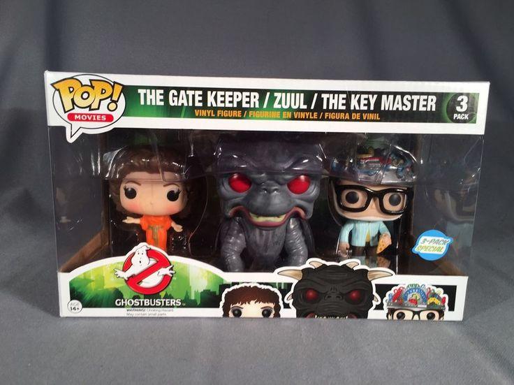 Ghostbusters Funko Pop Figures- Gate Keeper, Zuul, Key Master NEW IN BOX
