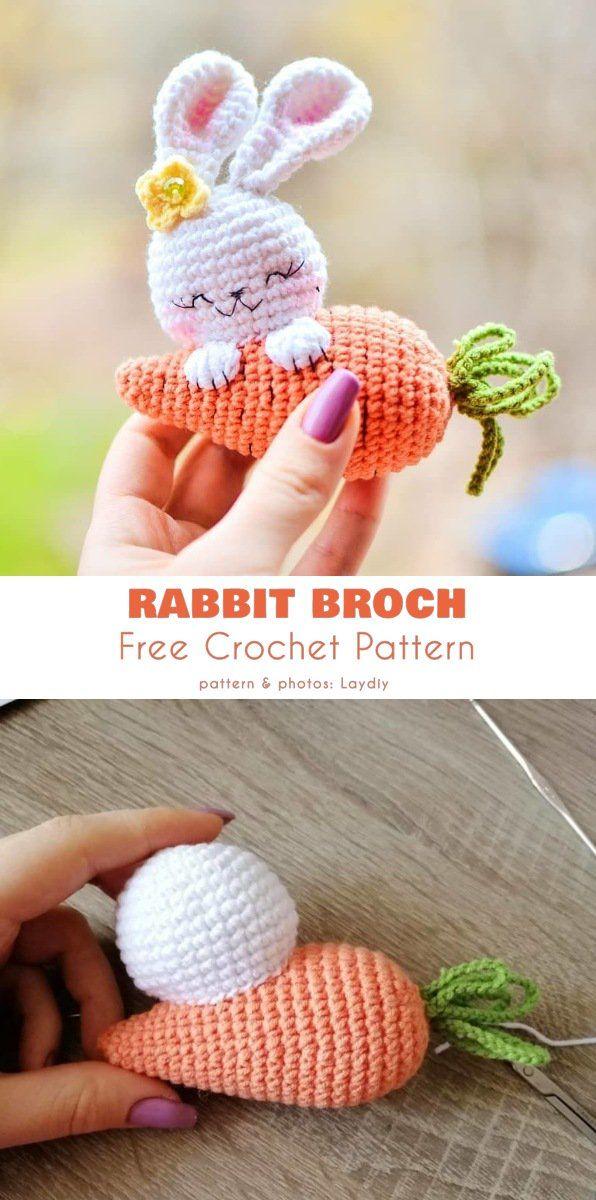 Rabbit Broch Free Crochet Pattern