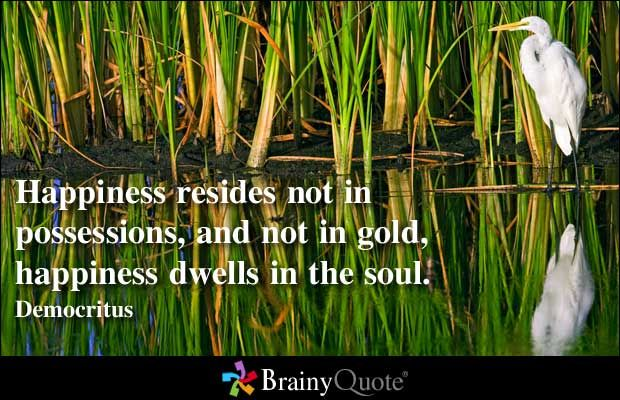 Happiness resides not in possessions, and not in gold, happiness ...