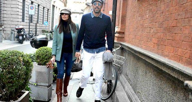 Buffon e D'Amico in love e in forma) a Milano - Mamme a spillo