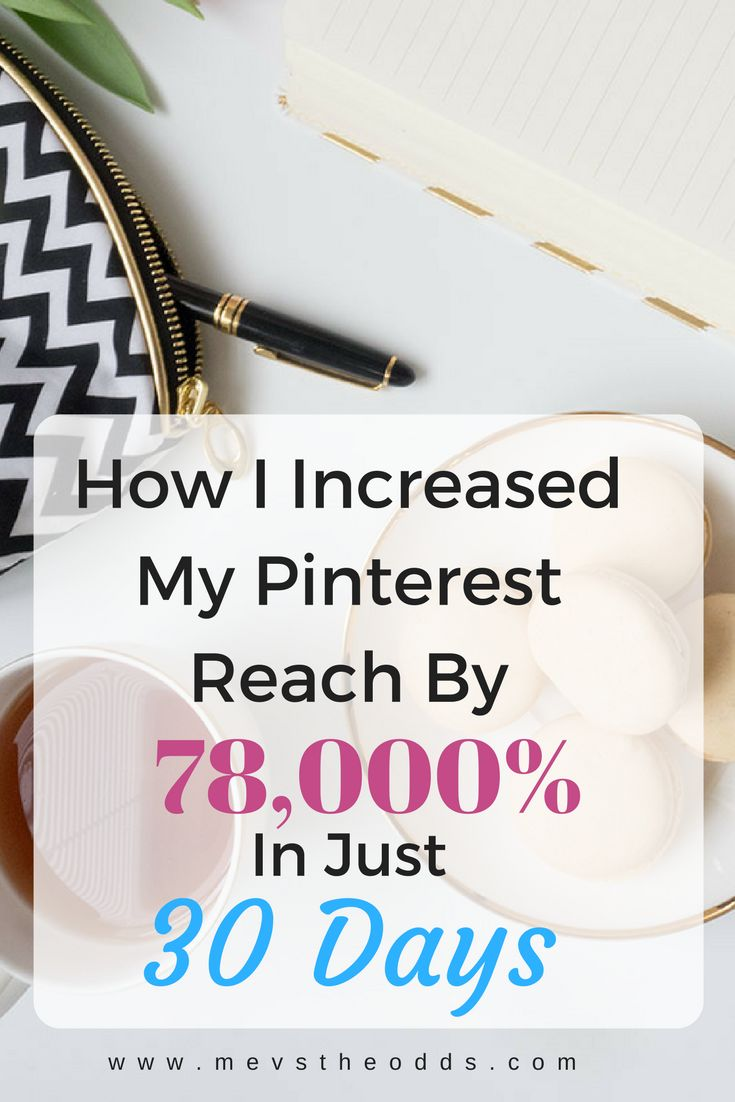 Read how I increased my Pinterest reach by 78,000% in just 30 days, including advice and tips for fellow bloggers and my secret weapon.