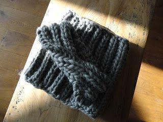 Made by Annemiek: Heerlijk warme gebreide col-sjaal