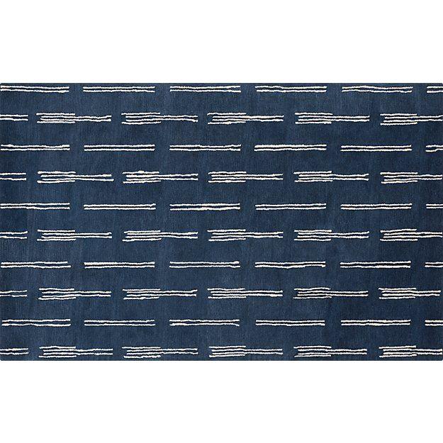 flight blue rug 5'x8'