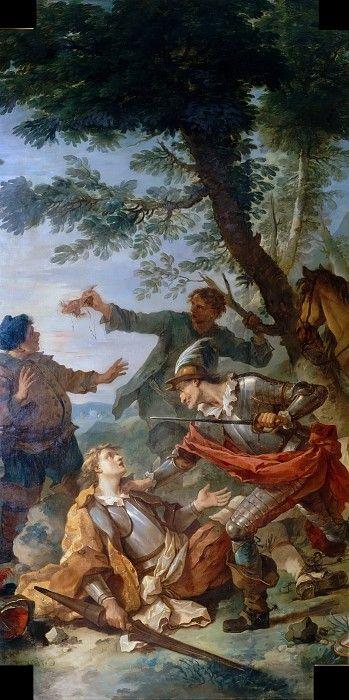 Дон Кихот и рыцарь зеркал. Шарль-Жозеф Натуар