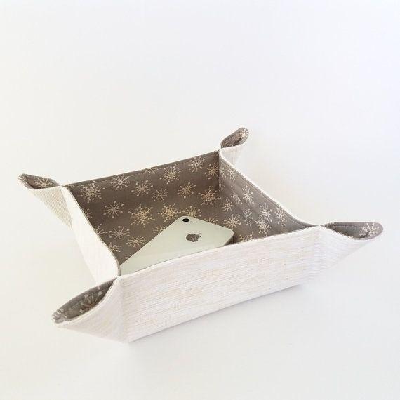 Christmas napkin holder Bread basket Neutral by greylittlemouse