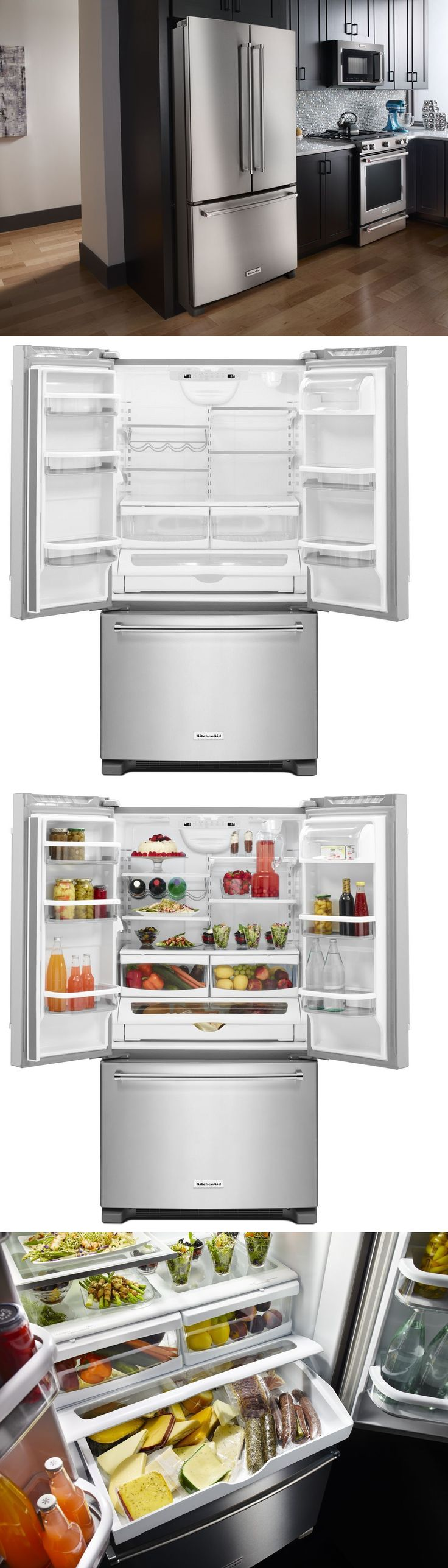 Refrigerators 20713: Kitchenaid Krff305ess 36 French Door Refrigerator Interior Dispenser Stainless -> BUY IT NOW ONLY: $1399 on eBay!