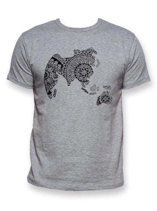 T-shirt Zenworld men grey - Star to China  #zentangle #tshirt #fashion #grey #men #china #design #global #world #star #startochina
