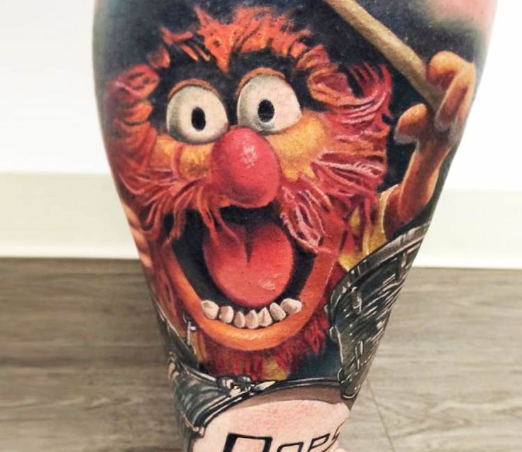 animal from muppets tattoo by jesse rix best tattoos pinterest. Black Bedroom Furniture Sets. Home Design Ideas