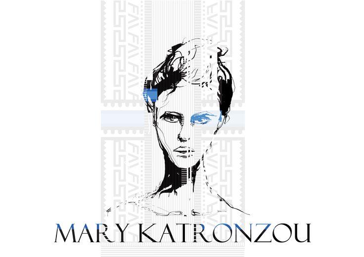 Fashion illustration inspired by Mary Katronzou's print designs, by Maria Janczak  ( www.facebook.com/maria.janczak.artist )