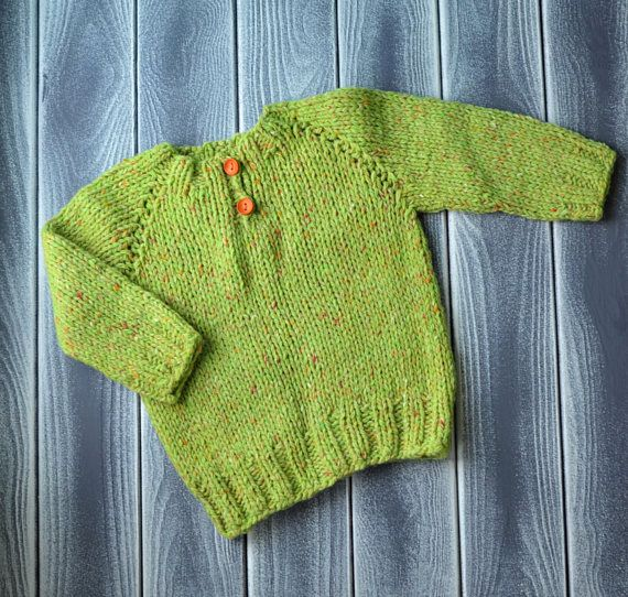 baby knitted tweed pullover little sweater for kids handmade